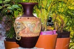 Pot de maison et de jardin Photo libre de droits
