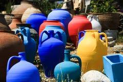 Pot de poterie de terre Photographie stock libre de droits