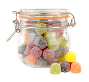 Pot de sucrerie de gomme aux fruits photo stock