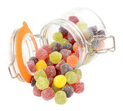 Pot de sucrerie de gomme aux fruits Images stock