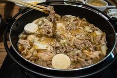 Pot de Sukiyaki de Japonais Images libres de droits