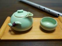 Pot de thé de style de Chines Photos libres de droits