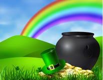 Pot de vert de symbole de jour de St Patrick s illustration de vecteur