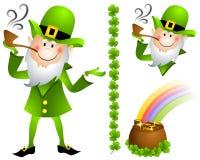 POT del Leprechaun di giorno della st Patrick di oro 2 Fotografia Stock Libera da Diritti