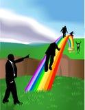 POT del Rainbow dell'oro Immagini Stock