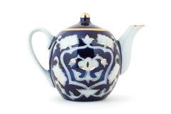 POT del tè dell'Uzbeco Fotografie Stock