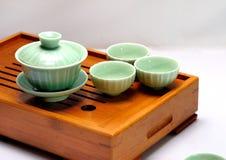 POT del tè e tazze di tè cinesi Immagine Stock