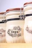 POT dello zucchero Immagine Stock