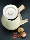POT di argilla cinese Fotografia Stock Libera da Diritti