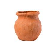 POT di argilla isolato Fotografia Stock