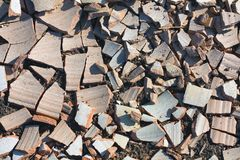 POT di argilla rotto Immagini Stock