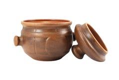 POT di ceramica con il coperchio Fotografia Stock