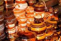 POT di ceramica tradizionali Fotografie Stock