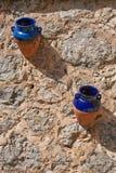 POT di ceramica tradizionali di Mallorcan Fotografia Stock
