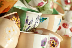 POT di ceramica verniciati Fotografia Stock