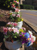 POT di fiore decorativi Fotografia Stock Libera da Diritti