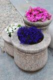 POT di fiore del granito Fotografia Stock