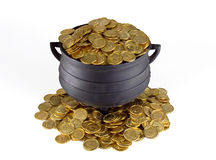 POT di oro Immagini Stock