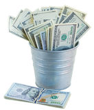 Pot of dollars Stock Photos