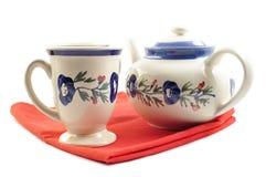 POT e tazze del tè Fotografie Stock Libere da Diritti