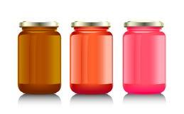 Pot en verre avec la confiture, illustration de vecteur