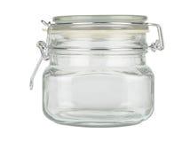 Pot en verre avec le chapeau image stock