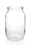 Pot en verre un litre de vide. Image libre de droits