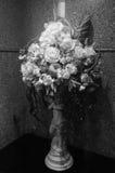Pot et fleur mono photographie stock