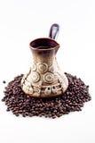 POT fatto a mano del caffè Fotografia Stock Libera da Diritti
