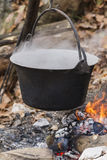 Pot on the fire Royalty Free Stock Image