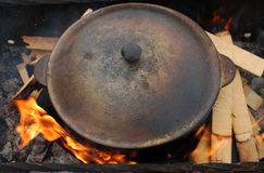 Pot on the fire Stock Photo