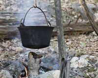 Pot on the fire Royalty Free Stock Images