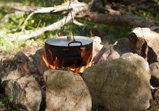 Pot on the fire Stock Photos