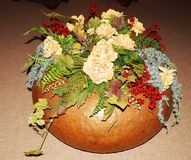Pot fleuri pour le but de Noël Photos libres de droits