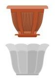 Pot for flowerpot flower royalty free stock image