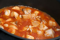 Seafood soup Royalty Free Stock Photography