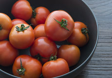 A pot of fresh tomatoes Royalty Free Stock Image