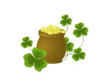 Pot full of gold Stock Image