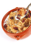Pot full of granola with nuts Stock Photography