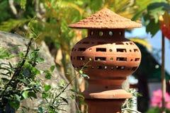 Pot in the garden Royalty Free Stock Photos