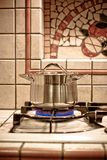 Pot on Gas Cooker Stock Image