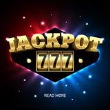 Pot 777, gelukkige drievoudige het casinobanner van de sevenspot Royalty-vrije Stock Afbeelding