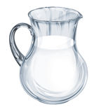 Pot from glass. Pot (jar) from glass with healthy milk Stock Photography