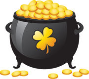 Pot of Gold. An illustration of a St. Patrick's Day  a white background Stock Photography