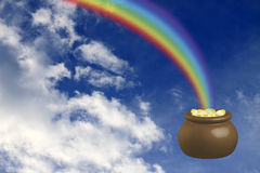 Pot with gold stock illustration