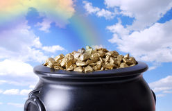 Pot Of Gold Royalty Free Stock Photos