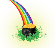 Pot of gold Stock Images