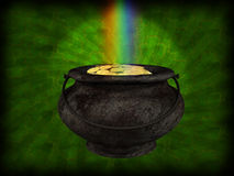 Pot of gold stock illustration