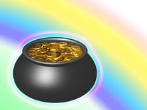 Pot of Gold Royalty Free Illustration