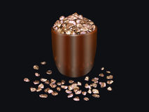 Pot Of Gold. Pot full of gold nuggets Stock Images